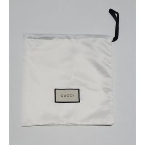 "Gucci Dust Bag Drawstring White Satin 10"" X 9.75"""